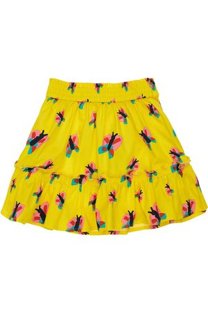 Stella McCartney Butterfly Print Organic Cotton Skirt