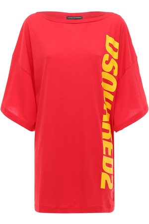 Dsquared2 Oversized Printed Logo T-shirt Dress