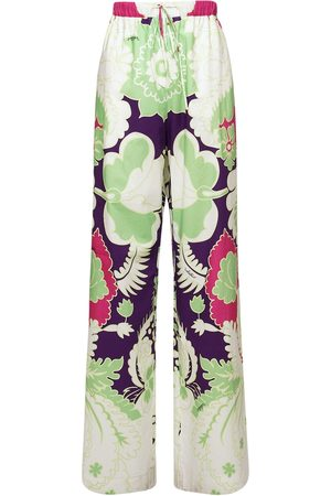 VALENTINO Tropical World Cotton Poplin Pants