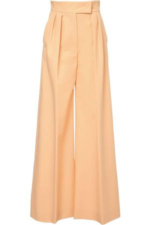 Max Mara Cotton & Nylon Wide Leg Pants