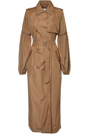 Max Mara Tech & Silk Taffeta Long Coat