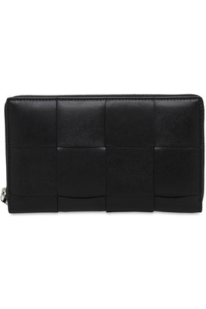 Bottega Veneta Maxi Intreccio Leather Zip Around Wallet