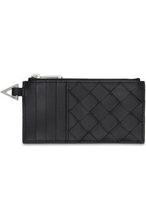 Bottega Veneta Leather Intreccio Zip Card Holder