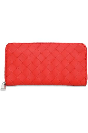 Bottega Veneta Intreccio Leather Zip Around Wallet
