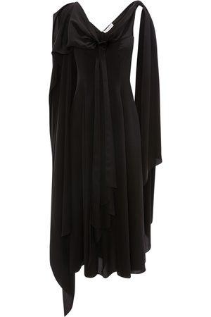 J.W.Anderson Draped Fluid Viscose & Cupro Twist Dress