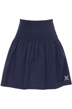 Kenzo Pleated Crispy Tech Mini Skirt