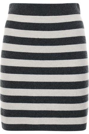 Kenzo Striped Wool Blend Knit Mini Skirt