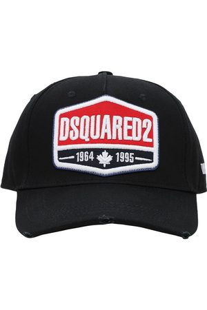 Dsquared2 Logo Patch Cotton Gabardine Baseball Hat