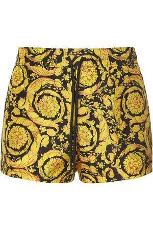 VERSACE Baroque Printed Nylon Swim Shorts