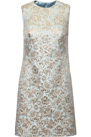 Dolce & Gabbana Sleeveless Jacquard Lamé Mini Dress