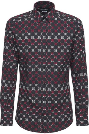 Dolce & Gabbana Geometric Print Stretch Cotton Shirt