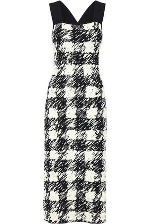 PROENZA SCHOULER WHITE LABEL Gingham Jacquard Knit Dress