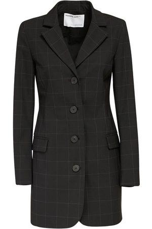 Designers Remix Aja Wool Blend Crepe Mini Blazer Dress