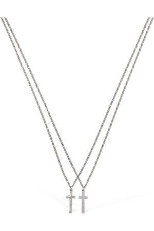 Dsquared2 Jesus Double Chain Necklace