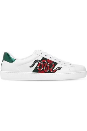 Gucci Mænd Sneakers - Snake New Ace Leather Sneakers