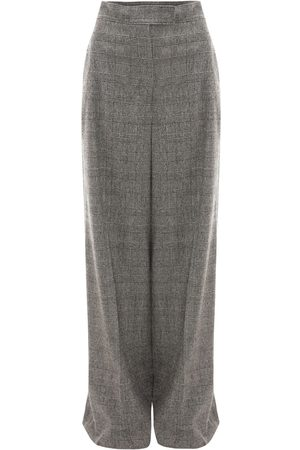J.W.Anderson High Waist Checked Wool Wide Leg Pants