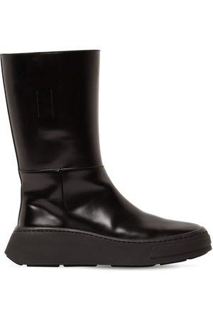 Prada 50mm Big Huge Leather Boots