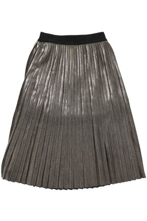 Karl Lagerfeld Pleated Lurex Skirt