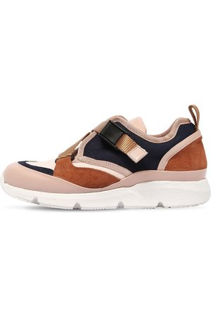Chloé Leather & Canvas Sneakers