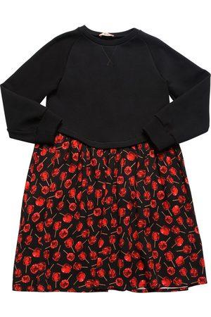 Nº21 Cherry Print Cotton & Viscose Dress