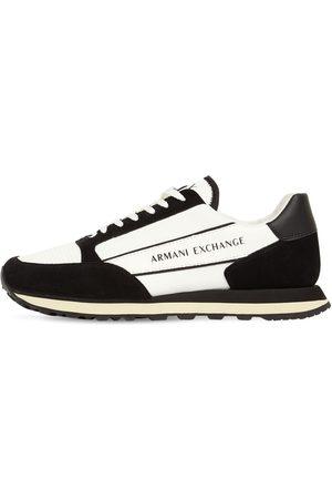 Armani Logo Tech Lace-up Sneakers