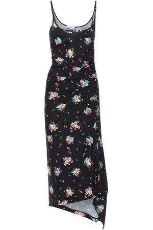 Paco rabanne Printed Sleeveless Viscose Long Dress