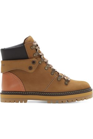 See by Chloé 20mm Leather Hiking Boots