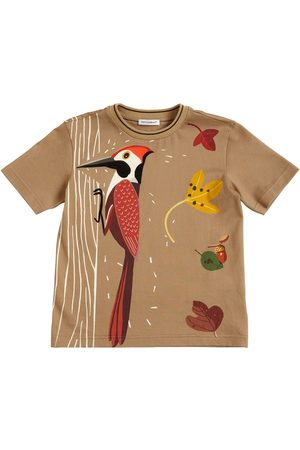 Dolce & Gabbana Woodpecker Print Cotton Jersey T-shirt