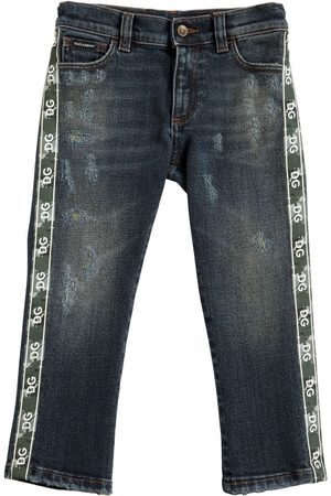 Dolce & Gabbana Stretch Cotton Jeans W/ Logo Bands