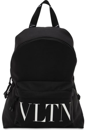 VALENTINO GARAVANI Logo Print Nylon Backpack
