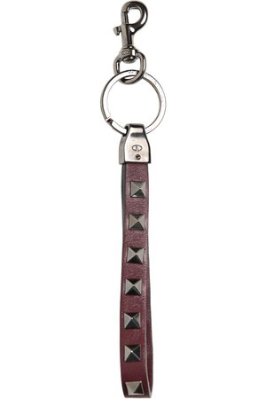 VALENTINO GARAVANI Rockstud & Leather Key Holder