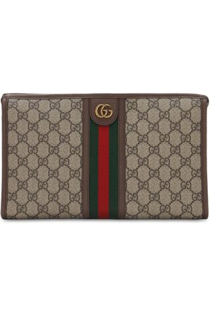 Gucci Gg Supreme Canvas & Web Toiletry Bag