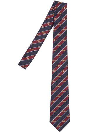 Gucci 7cm Gg Interlocking Striped Silk Tie