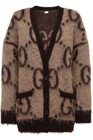 Gucci Kvinder Cardigans - Oversized Gg Mohair Blend Knit Cardigan