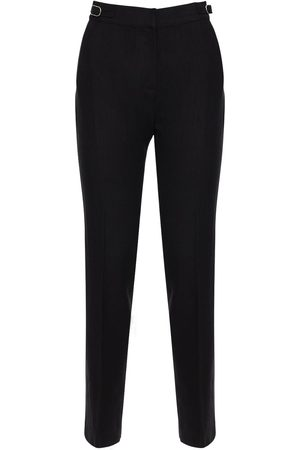 GABRIELA HEARST High Waist Textured Linen Straight Pants