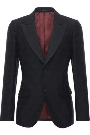 Gucci Gg Wool & Silk Jacquard Tuxedo Jacket