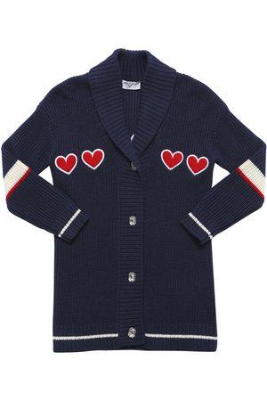 MONNALISA Cardigan W/ Heart Patches