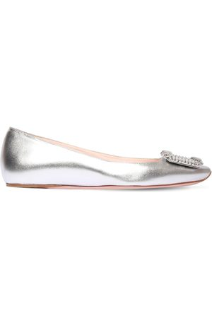 Roger Vivier 10mm Trompette Leather Ballerinas
