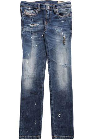 Diesel Distressed Stretch Cotton Jeans