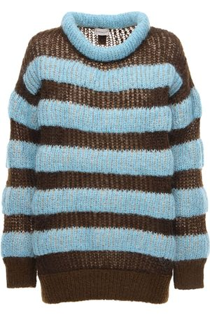 Moncler Genius Striped Mohair Blend Knit Sweater