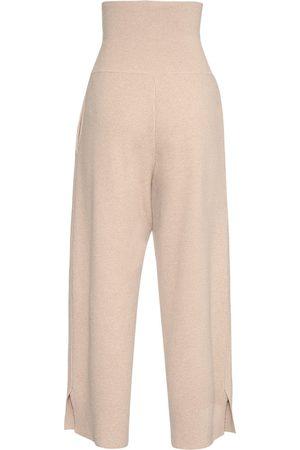 Stella McCartney High Waist Wool Knit Wide Leg Pants