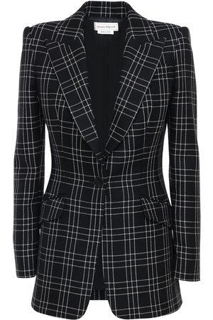 Alexander McQueen Welsh Check Wool Single Breast Jacket