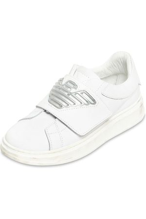 Emporio Armani Leather Strap Sneakers