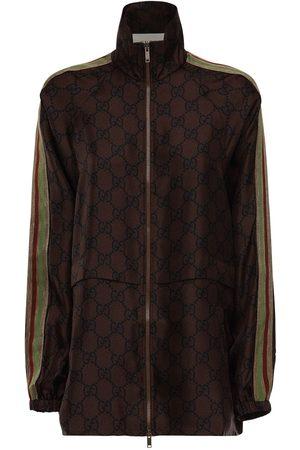 Gucci Gg Supreme Printed Silk Twill Jacket