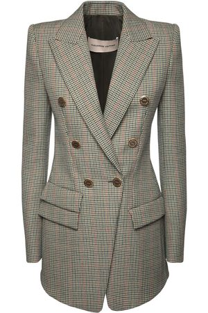 ALEXANDRE VAUTHIER Wool Prince Of Wales Long Blazer