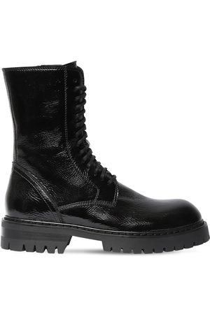 ANN DEMEULEMEESTER 40mm Vintage Leather Combat Boots
