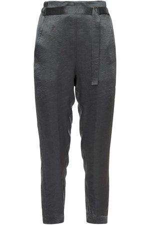 ANN DEMEULEMEESTER Satin Military Pants