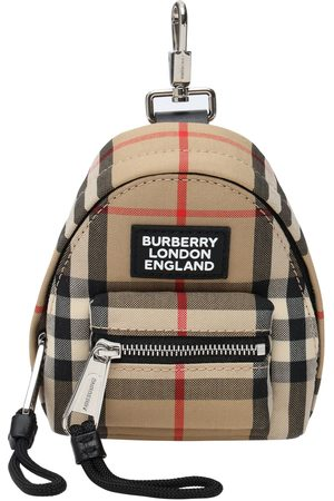 Burberry Mini Jett Check Canvas Key Holder