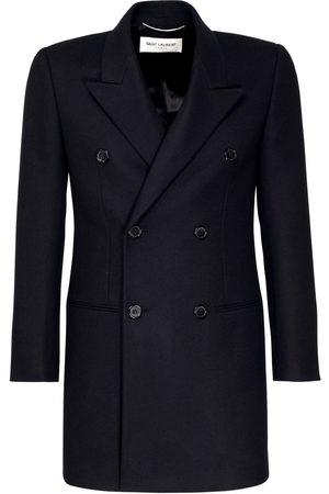 Saint Laurent Double Breast Wool & Cashmere Coat