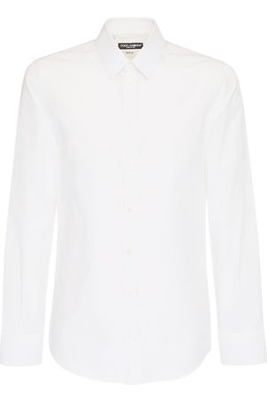Dolce & Gabbana Dg Striped Jacquard Cotton Poplin Shirt